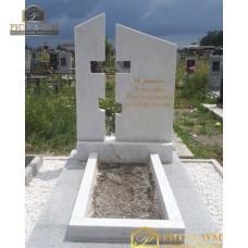 Памятник из белого мрамора №14 — ritualum.ru
