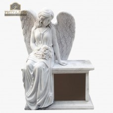 Скульптура ангела из мрамора №102 — ritualum.ru