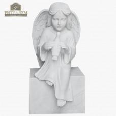 Скульптура ангела из мрамора №116 — ritualum.ru